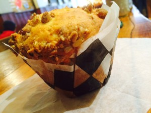 jam filled muffin