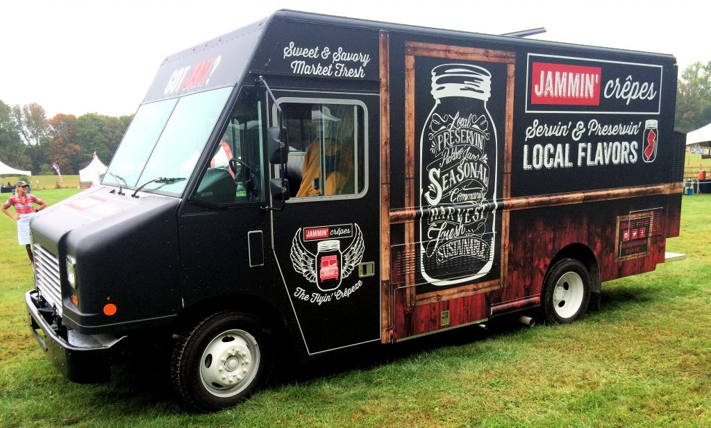 Image of a Jammin' Crepes food truck